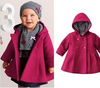 Cute High Quality Fashion Baby Coat/Autumn And Winter Cotton Lining Jacquard Coat/New Arrival Free Shipping