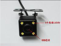 Free Shipping,Waterproof 170 Degree 4 LED Night Vision Car CCD Rear View Camera Reverse Backup Camera For Android DVD Monitor