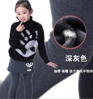 Children autumn new trousers Korean girls with velvet thickened rabbit Leggings Leggings wholesale children