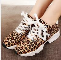 2014 Spring New women's Autumn, winter Leopard grain casual sports shoes, Sneakers Women  singles shoes