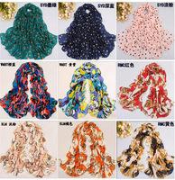 Freeshipping Fashion ice silk desigual tecido hijab Scarf women winter warm Tassel rayon polyester print Wrap Shawl