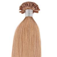 U-tip/Nail Pre-bonded Hair Extension  Straight Hair Honey Blonde Hair Color(#27) 100g/pack, 0.5g/strand 200 Strands