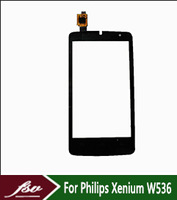 Front Outer Lens Glass Capacitive Touch Screen For Philips Xenium W536 black TF0298C(B102-9883)-TY sensor Replacement Assemble