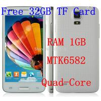 free 32GB Star W800 Mini S5 i9600 android phones  Android 4.2.2 MTK6582 1.3GHz Quad Core 4.5'' 1GB RAM 2GB ROM WIFI GPS 3G WCDMA