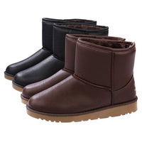 New Fashion Winter Shoes Man Ankle Boots Thermal Snow Boots Fashion Men Shoes Black Brown Free Shipping1688