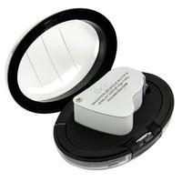 New LED Double-Multiple 30X &60X Mini Microscope Loupe Currency Detecting + LED Magnifier Jeweler Eye Loupe Gift Box SV18 303