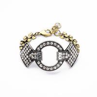 Fashion personalized diamonds vintage bracelet rhinestone statement bracelets for women