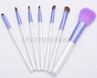 Whoelsale And Retail 7 Pcs Professional Makeup Brush Kit Makeup Brushes Sets Cosmetic Brushes+Good Quality Bag b14 SV008756