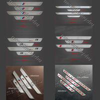 4pcs/set Stainless Steel Door Sill Plate/Pedal Sline  M MOTOSPORT Rline ST Emblem