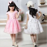 2014 New Princess Children dress girls dress lovely floral casul girls' dress plus size Baby Kids Lovely Dress free shipping