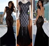 2014 Fashion Women's Autumn Vestidos dress Short Sleeves Evening  Party Maxi  Dress KF068 S M L Plus Size