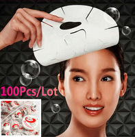 A Lot 100pcs High Quality Natural Skin Care DIY Facial Face Compressed Mask Paper Tablet Cotton Masque Treatment Free Shipping