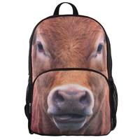 VEEVAN men's backpacks women backpack cow 3D animal bag casual school bags for children daypacks bolsos men's travel bags