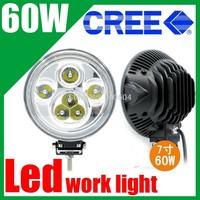 "7"" 60W CREE Led work light Off roads driving worklight Fog light Auxiliary headlights Universal Car truck Daytime spotlight"
