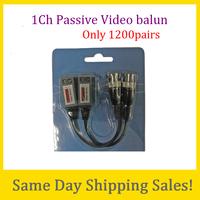 Freeshipping Video Balun passive Transceivers CCTV DVR camera BNC Cat5 UTP 10 PCS cheap price twisted video balun