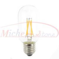 New Arrival 2500K Edison T45 4W Glass Warm White LED Bulb Lamp E27 Energy Saving Light 200V-240V High Lumen 5pcs/lot