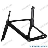 2014 Carbon Track  Frame 100% Carbon Fiber Bike Aero Frameset UD Matt BSA / BB30 + Fork + Seatpost Size:49/51/54/56