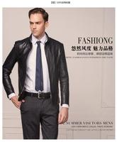 very popular 100% Goat leather coat Fashion Men's leather Genuine jacket factory supplier wholesaleLeather coat Free shipping
