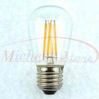 New Design Edison S45 4W Glass Warm White LED Bulb Lamp E27 Energy Saving Light 200V-240V Free Shipping 5pcs/lot