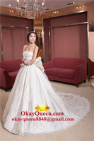 Korean Bride Lace Halter Slim Retro Long Trailing Fishtail Wedding Dress 2014 New Autumn And Winter Shipping