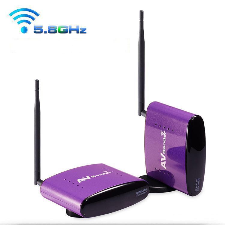 2pcs 5.8G Digital STB wireless av video audio transmitter sharing device,support 8 channels,300 m transmission range(China (Mainland))
