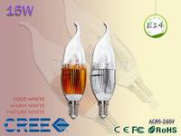 1pcs / lots E27 E14 LED candle light bulb white plastic bulb warm white 9w 12W 15W led spotlight bulb e12 110v 220v 85-265V