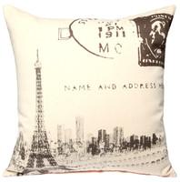 New Vintage The Eiffel Tower Buildings Fashion Art Classic Decorative Car Sofa Home Pillow Case Cushion Cover Throw Sham