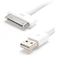 1000pcs/lot  White USB Data Cable Charger For Apple iPhone4 4S 3S iPod  ipad2 3 High Quality Brand New Fast  Free DHL/Fedex