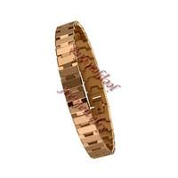 Golden plating rose tungsten steel men bracelet