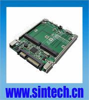 "Sintech 2.5"" SATA/USB 3.0 dual mini SATA mSATA SSD Raid controller card Converter adapter with cable"