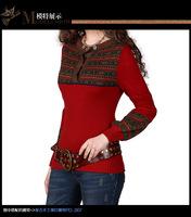 2014 Winter Sweater Vintage lantern sleeve sweater women's knitshirt