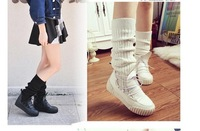 free hongkong post~J946 2 COLORS SOCKING SOFT PLATFORM BOOTS