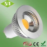 2014 new design  gu10 cob warm white 2800-3000K  led spotlight