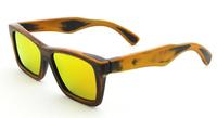 2014 Free Shipping New Bamboo stain frame with  orange Revo polarized lens famous designer sunglasses z6003bo