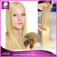 "18"" 20"" 22"" 24"" 100g Italian keratin Nail Tip U tip hair extensions 1g/s 100% Indian Remy Human Hair black brown blond in stock"