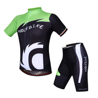 Freeshipping WOLFBIKE Men's Cycling Jersey Shorts Set Bike Bicycle ciclismo Quick Dry Breathable Shirt