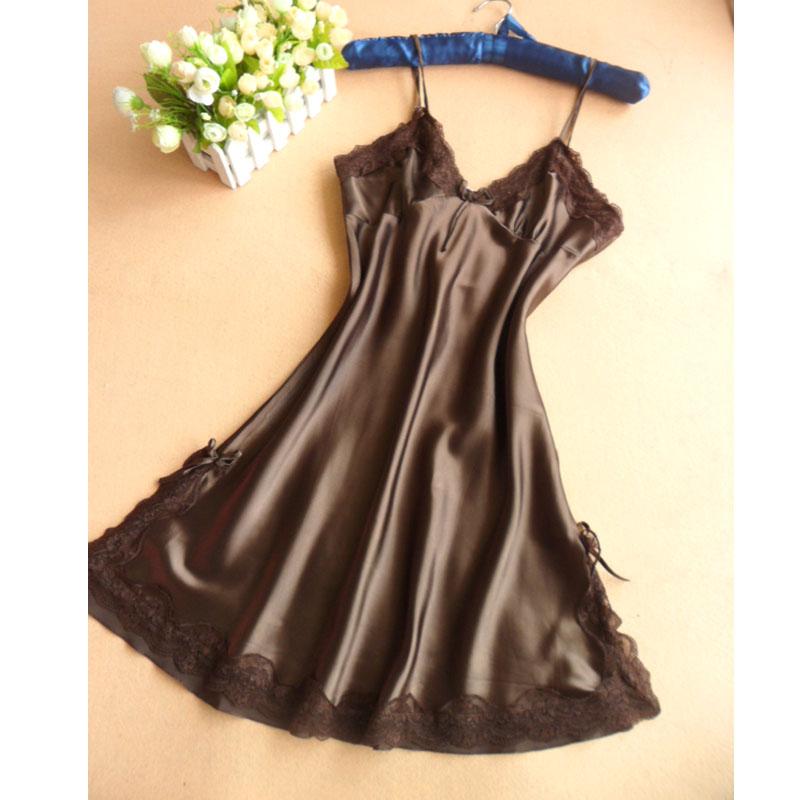[] every day special woman sexy pajamas silk nightdress silk nightgown wholesale clothing(China (Mainland))