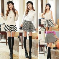 Cute Floral Sexy Lady Plover Sunny Flower Pleated Wide Hem Half Dress Bottom Skirt Skirts Womens Saias Femininas 2014#66781