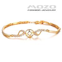 Wholesale new fashion jewelry retro shiny zircon plated18k yellow gold hollow bracelet & bangle for women wedding jewelry TY432