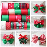 Free shipping 24 YDS Mixed 24 style Ribbon Set Christmas Ribbon series Ribbon DIY