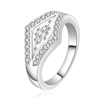 FREE SHIPPING!5pcs wholesale 925 Sterling SILVER Elegant design with crystal Rings size (7,8)choose size,Drop shipping
