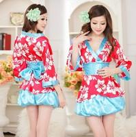 Free Shipping Ladies Sexy Japanese Pajamas Kimono Sexy Lingerie Sleepwear Temptation Female Classical Trendy Nightgown 22015