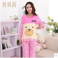 Qiu dong season cute cartoon bear milk long-sleeved leisurewear percussive drill ladies pajamas on sale
