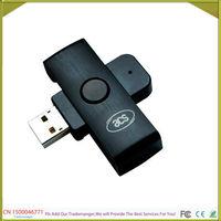 Free Shipping  Programmable Mini Portable USB IC Contact Smart Card Reader Wirter ACR38U-N1PocketMate+2PCS 4442 Card+SDK
