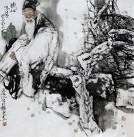 Original Chinese painting handpainted figure painting  Oriental Asian figure Painting Ink Brush Art on xuan paper gift original