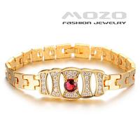 Wholesale new fashion jewelry shiny zircon plated18k yellow gold bracelet & bangle wedding jewelry for elegant women TY428