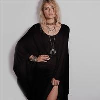 XS-XXL 2014 New Dress Of Women Loose Fashion Formal Dress Full Dress Sexy Trumpet Expansion Bottom  One-piece Dress