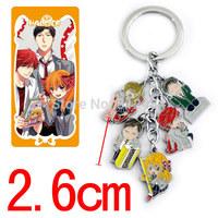 Cartoon Gekkan Shoujo Nozaki-kun Keychains Metal Figure Key Ring Keychain Pendants 50sets/lot