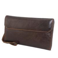 J.M.D Genuine leather wallets business hand bag wholesale high-grade card holder Leather Wristle Wallet Card package design 9051