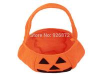 Halloween Decoration Supplies Halloween Pumpkin Bags Child Pumpkin Smiley Bags Pumpkin Decoration free shipping 10pcs